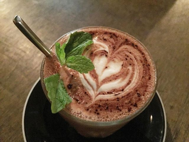 Delicious Mint Hot Chocolate - so amazing.