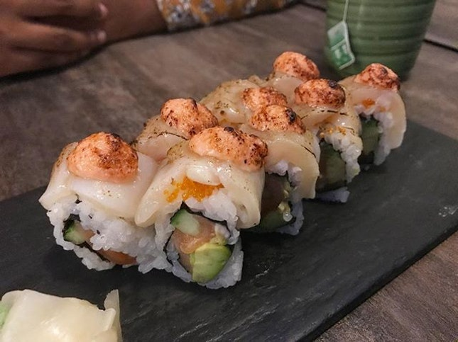 Hotate Salmon Aburi - Japanese treats to mark a special day.