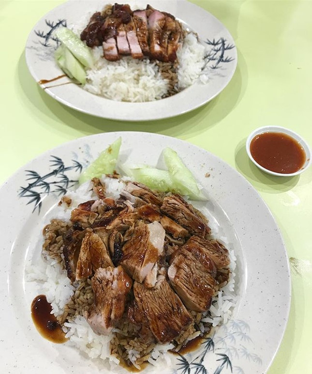 $2 烧肉饭 and $2.50 烧鸭饭 - you can't find prices like that anymore.