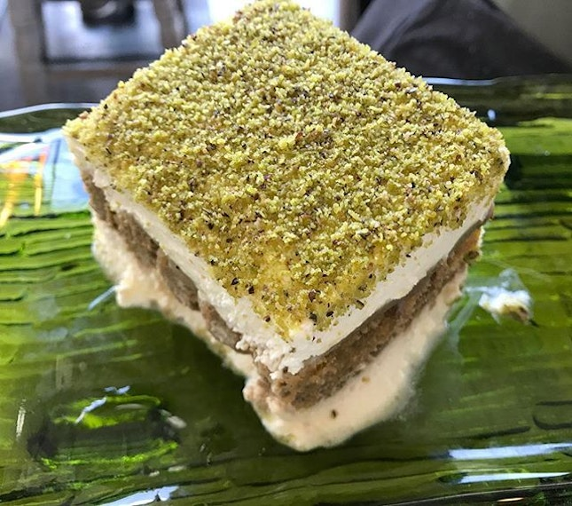 The one and only Pistachio Tiramisu from @ioosteriasg - hands down one of the best desserts on earth (that I have tried).