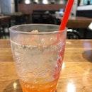 This uber refreshing grapefruit soda is just delightful.