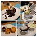 Affogato is good, chocolate brownie with chocolate sauce & vanilla ice cream is passable.