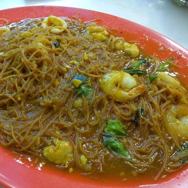 Tiga Rasa Beehoon $6.50 (Beehoon in sweet, sour and spicy sauce 甘香米粉).