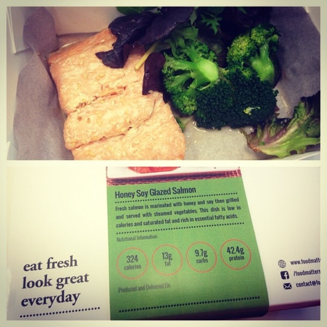 Really happy with my first meal from @foodmatterssg finally a healthy lunch delivery option!
