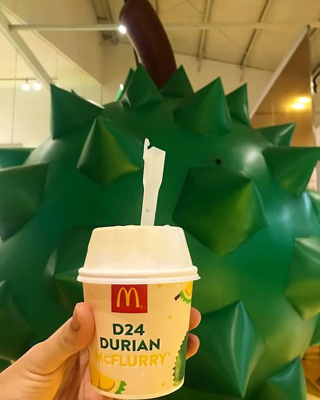 Durian mcflurry the other day!