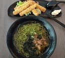 Yay to impromptu lunch meetup~~ Chasoba with ebi fry again!