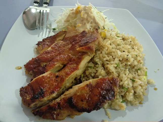 Sous Vide Grilled Chicken With Garlic Fried Rice ($7.30)