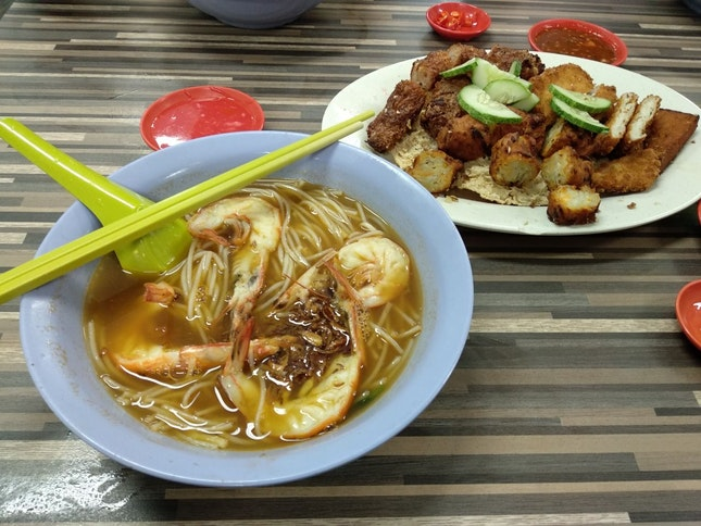Prawn Mee And Fried Ngor Hiang!
