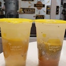 Instead of getting the usual sugary bubbletea, we opted for honey drinks (no sugar added) at honeymill paragon!