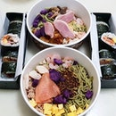 Super colourful healthy non fried takeaway stay home meal for the weekend!