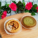 Walnut And Matcha Cheese Tarts!