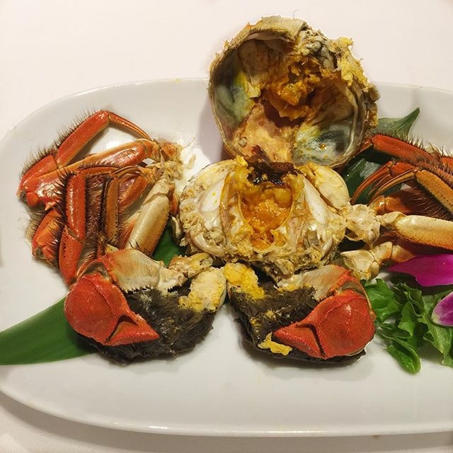 6-course for Hairy Crab Grandeur dinner.