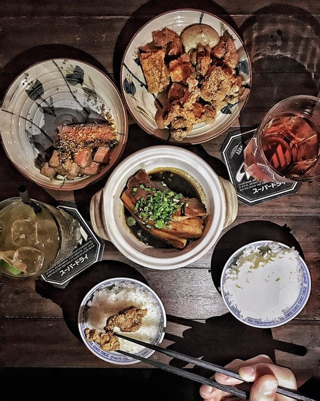 Lu Rou —$10 Braised pork, steak and fried chicken in the local chinese style with sharing plates concept.