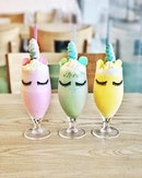 Unicorn Shakes —$7.90 Comes in 3 flavours: Strawberry, Matcha and Mango.