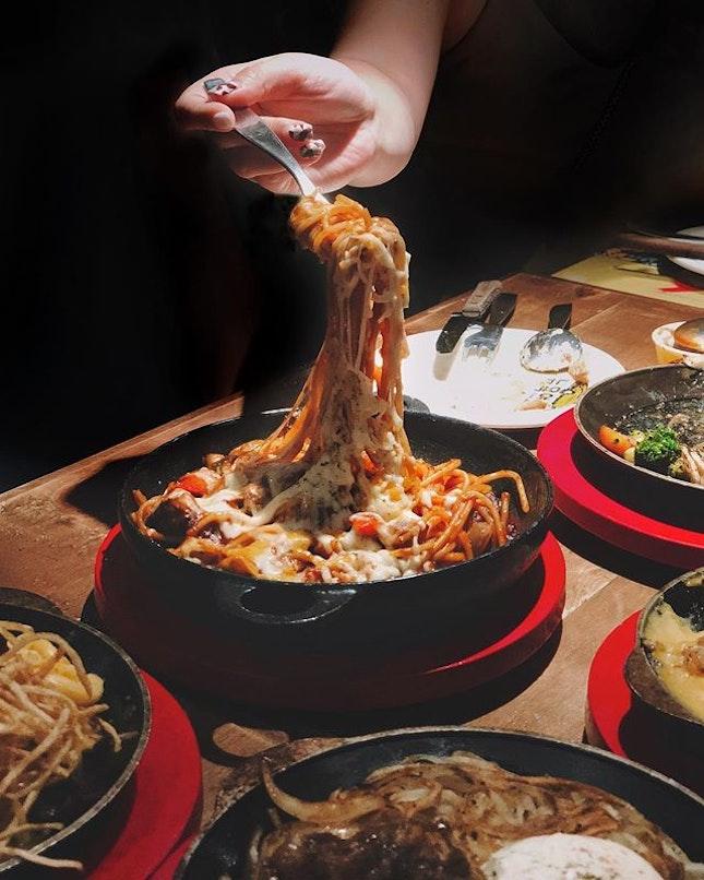 Pasta de Dakgalbi —$16.90 Definitiely for spicy-lovers!