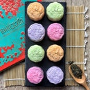 Brilliance Collection—$58/8pcs Such pretty snowskin colours of snowskin mooncakes with flavours of  Cempedak Chia made from 100% pure cempedak, Honeydew Chia Seed, Orange Chia Seed & Strawberry Chia Seed Snow.