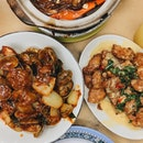 Saltedegg Porkrib —$12 And couldnt resist the Kum Hiong Lala ($13).