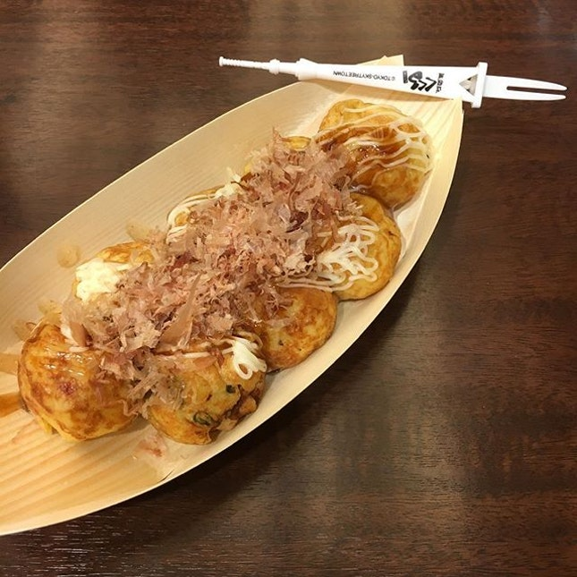 Takoyaki with a special Skytree fork.