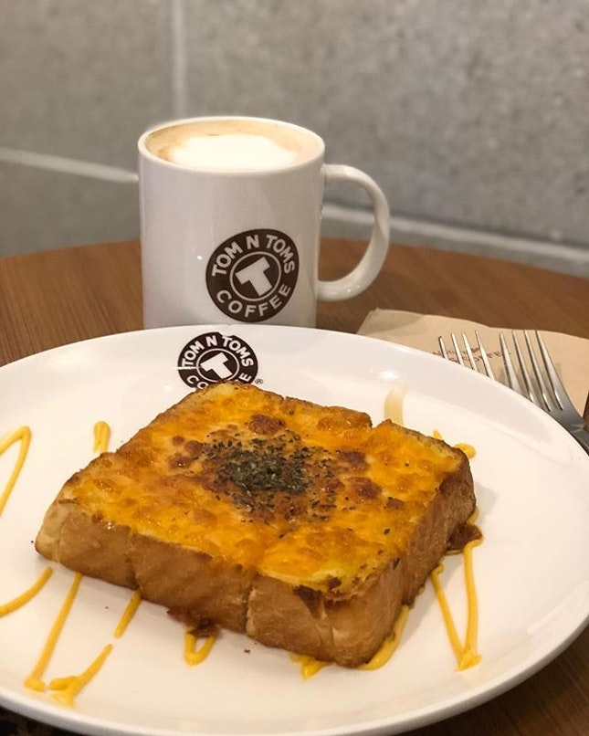 Cheese honey toast to start the day!