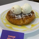 During catchups, ice cream and waffles is always good.