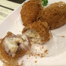 Deep Fried Yam w Scallop, Prawn, n Egg White