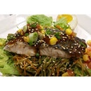 Another great lunch choice at Tanjong Pagar was the grilled baramundi with Soba from Wheat in International Plaza.