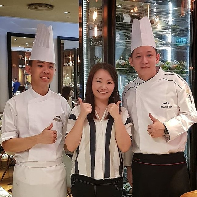 Wow get to meet the Executive Chef - Charles Goh and Chef - Jason Tang from @amarasingapore!