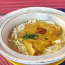 Laksa is a spicy noodle soup.