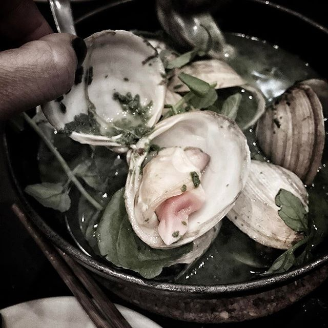 Throwback to last Saturday's clams with watercress at @yardbird.