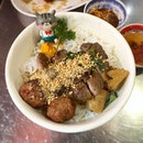 Bun Thit Nuong Cha Gio - dry vermicelli with BBQ pork and crispy spring rolls!