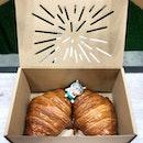 The famed croissants from Lune Croissanterie (Melbourne, Australia) - freshly baked on the spot!