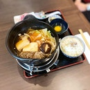 Beef Sukiyaki lunch set with japanese wagyu!
