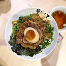 Beef mazesoba - the noodles were so chewy and addictive 😋  #poomsandpoms #foodies #sgfood #sgfoodies #sgeats #sgfoodporn #singaporefood #sgfoodtrend #eatmoresg #eatoutsg #foodinsing #yummyinmytummy #fatdieme #stfoodtrending #8dayseat #burpple #mazesoba #menyakokoro #100am #tanjongpagar