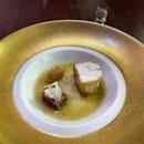 Monkfish, liver terrine, and onion soubise in shaoxing sauce 😋  #poomsandpoms #foodies #sgfood #sgfoodies #sgeats #sgfoodporn #singaporefood #sgfoodtrend #eatmoresg #eatoutsg #foodinsing #yummyinmytummy #fatdieme #stfoodtrending #8dayseat #burpple #monkfish #table65 #resortsworldsentosa #sentosa
