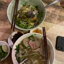 Beef Pho and Bun Bo Nam Bo