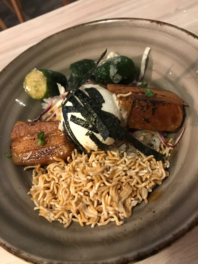 Pork Belly Miso Grain Bowl