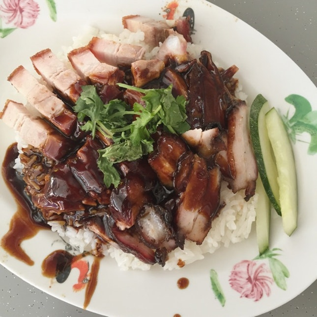 Char Siew, Siew Yoke, and Duck Rice ($7)