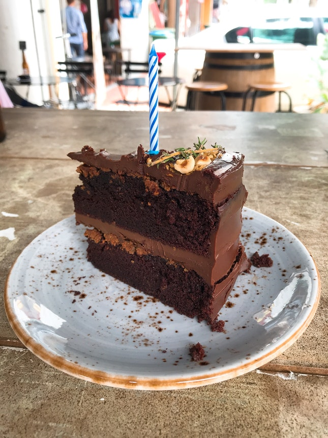 Chocolate Ganache with Hazelnut Praline Cake