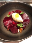 Beetroot pickled & roasted, stracciatella smoked walnuts, horseradish ice cream