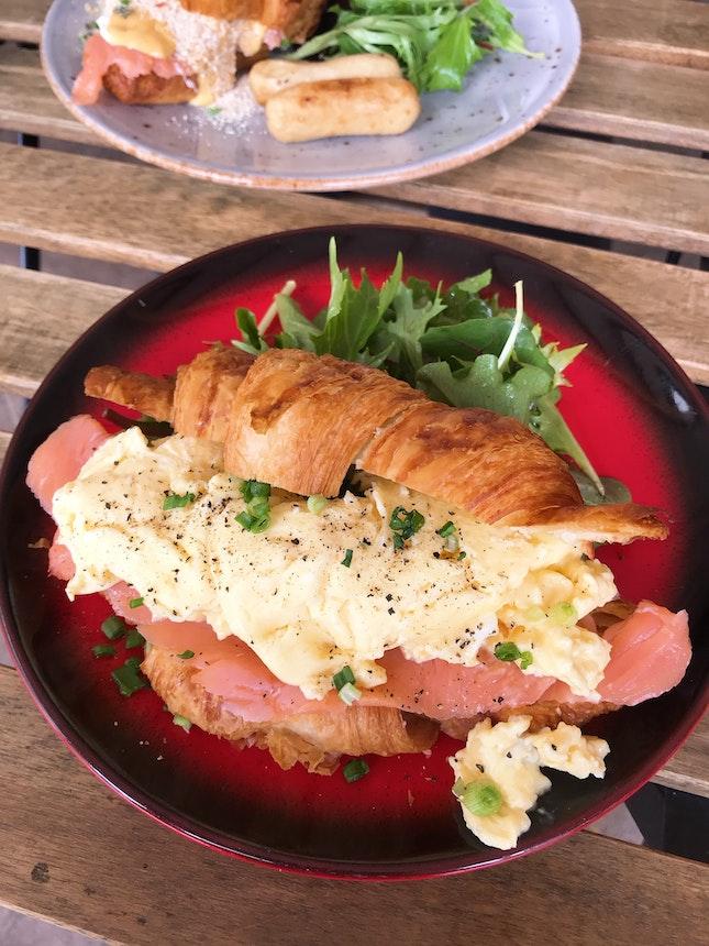Smoked Salmon & Cheese Croissant ($15.90)