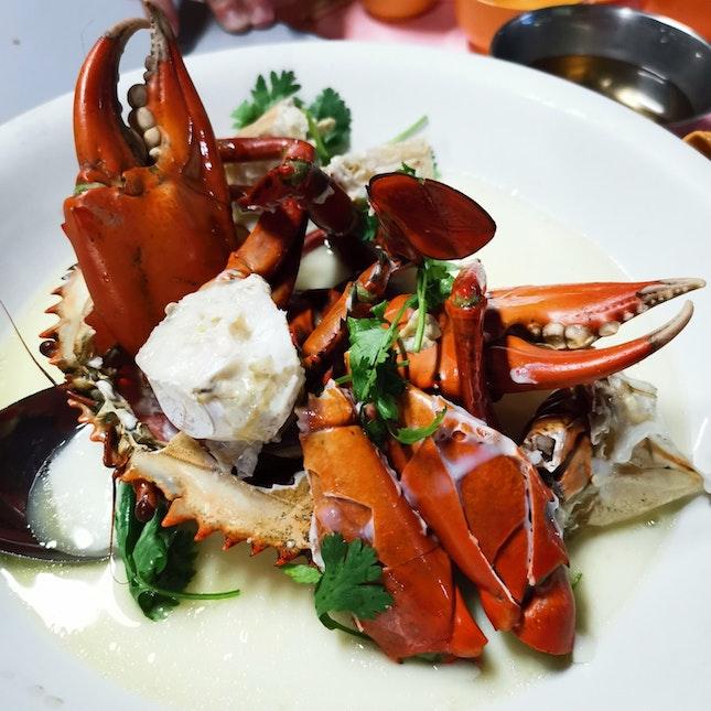 Steamed Crab ($58 x 1.9KG)