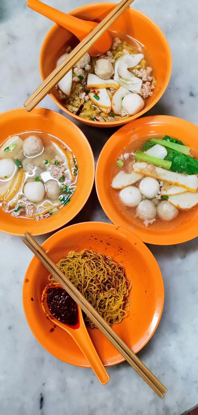 Fishball Noodle ($4)