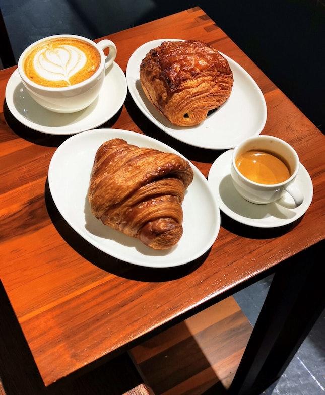 Plain Croissant ($4) Choc Croissant ($4.50)
