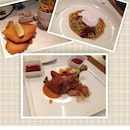 (clockwise) Fish & Chips, Japanese Curry Spaghetti, Duck Confit