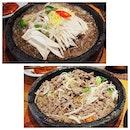 Sizzling hot bulgogi with glass noodles!