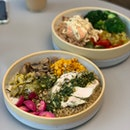 Chicken ($15) + Truffle Salmon ($15.50) Lunch Bowls