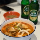 Red Tom Yum Seafood Soup ($19.80) but BAD Service Alert!!