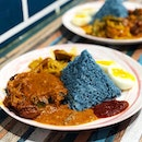 Rendang Chicken Set ($6.50) with Blue Pea Rice
