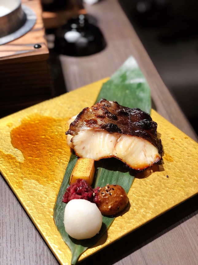 Charcoal Grilled Miso Marinated Black Cod Set ($21.90)