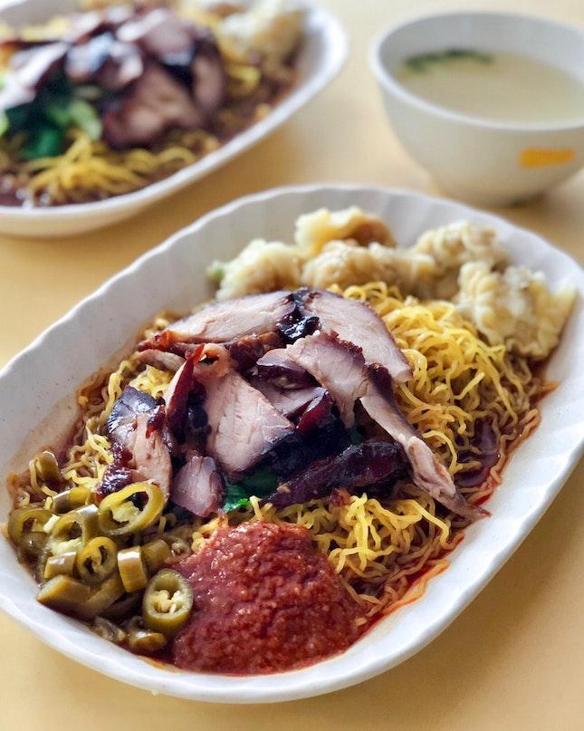 Char Siew Wanton Noodles ($4)